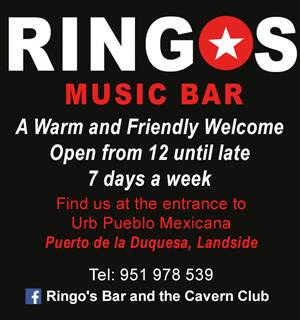 Ringos Bar and the Cavern Club in Manilva