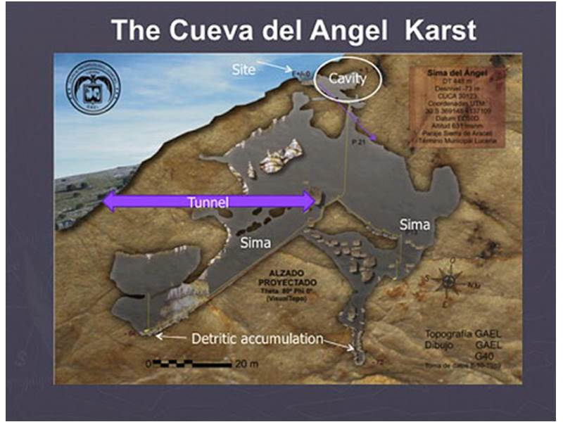 Plan of Angel's Cave (Image courtesy of Turismo Lucena)