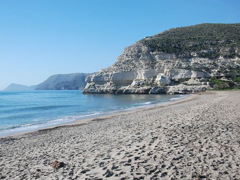 The beach at Agua Amarga