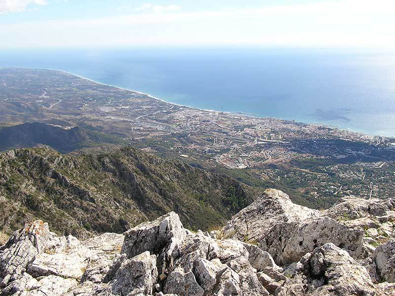 Looking down on Marbella, La Concha