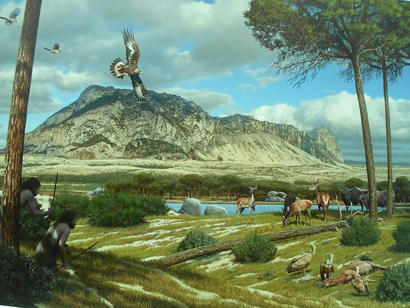 Panorama of Gibraltar circa 50,000 BC