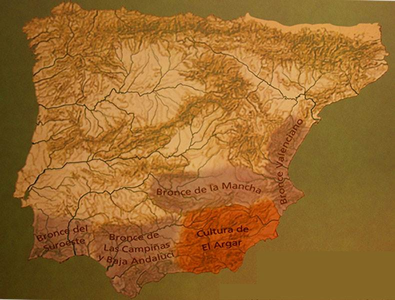 Argaric culture (Map courtesy Archaeological Museum Galera)