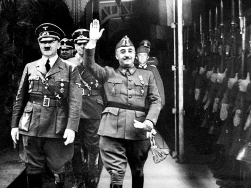 Hitler and Franco at Hendaye