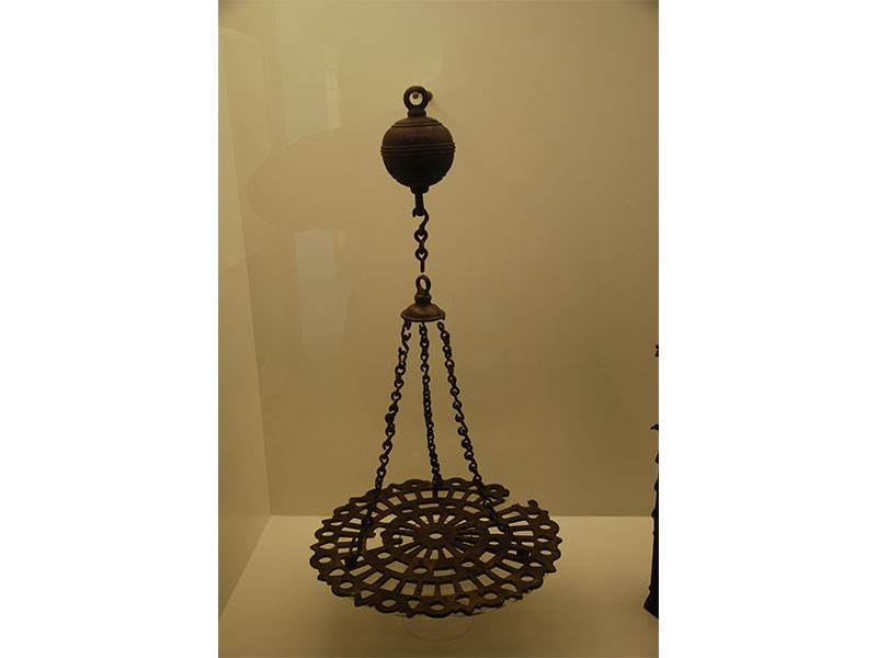 Moorish saucer lamp