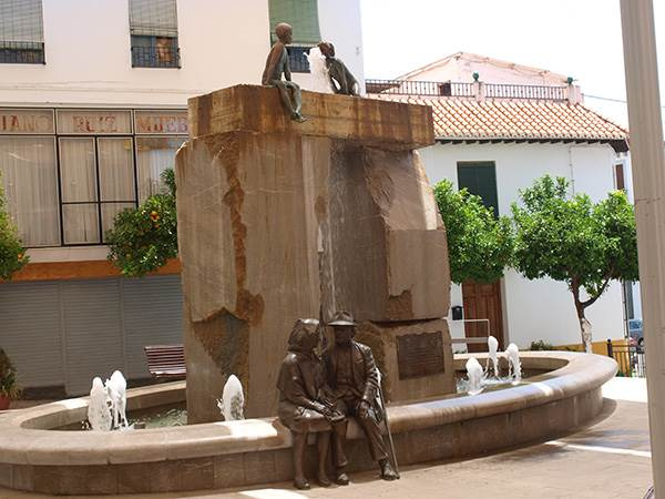 Just one of the water features in Lanjaron