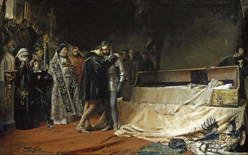 José Moreno Carbonero - The Conversion of the Duke of Gandia