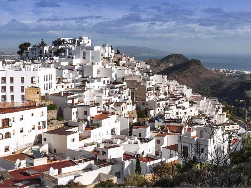 Mojacar cascading down the hill