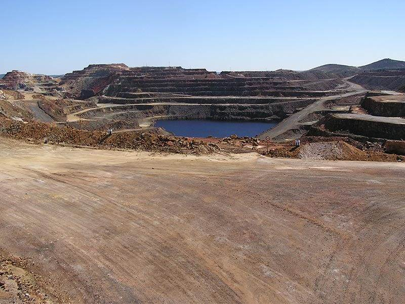 Rio Tinto Mine – Once a hill now a deep quarry