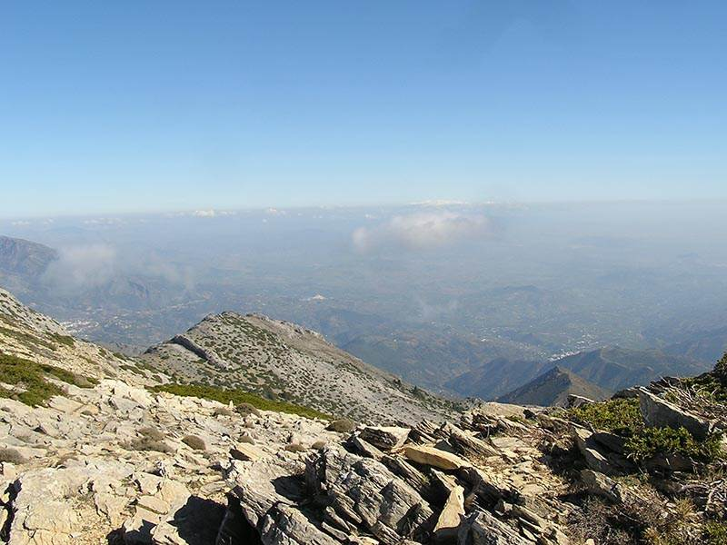 Ascent of Torrecilla in the Sierra Nieves
