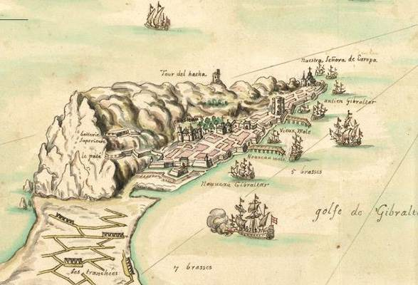 The Taking of Gibraltar 1704 - Louis Boudan