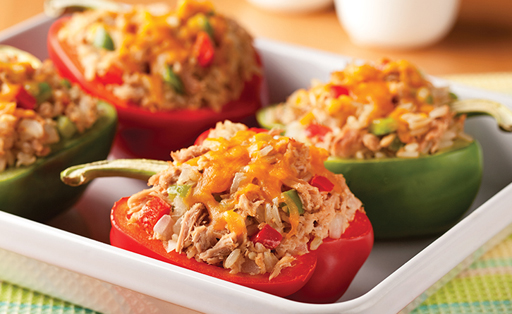 Stuffed Roasted Peppers with Tuna
